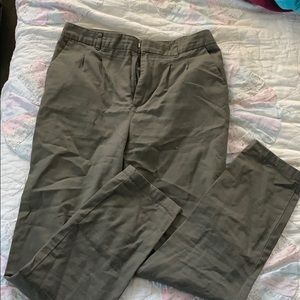 Olive green high waisted pants